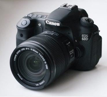 Продаю фотоаппарат canon 60d c 18-135 в Бишкек