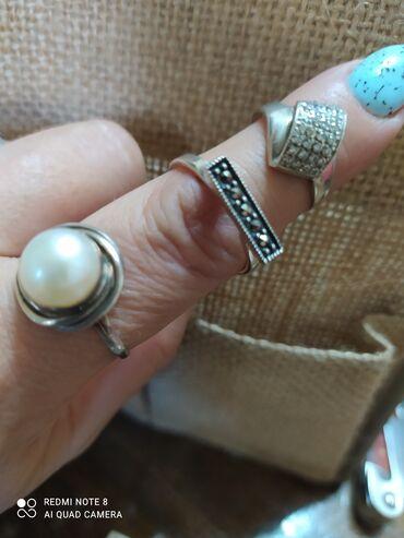 серебро бишкек in Кыргызстан   БРАСЛЕТЫ: Кольца серебро,размер 18-19. Каждое кольцо