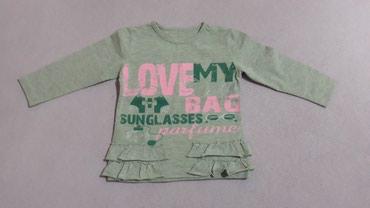 Majica na dug rukav za devojcicu, velicina 98, materijal pamuk/likra - Valjevo