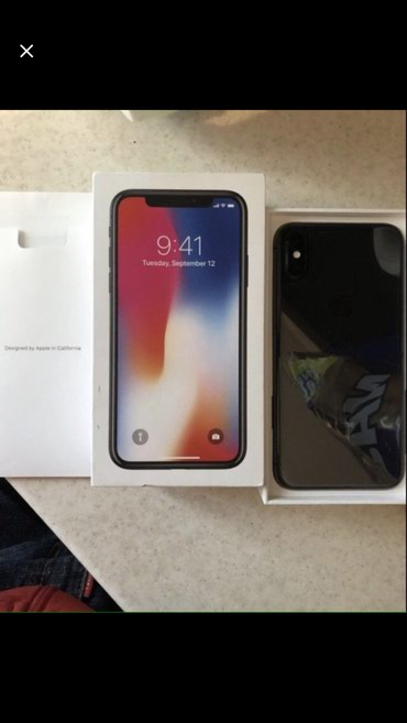 Iphone x 64 состояние отличное полный комплект  в Бишкек