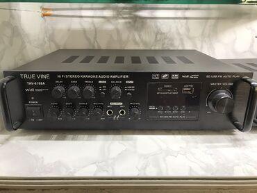 Умилитель 2 х 100 вт . Встроеное радио USB модуль 2 пары входов