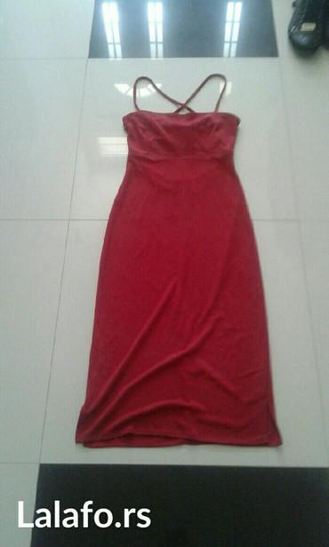 Haljina stoji idealno crvena boja veličine xs  s m - Backa Palanka