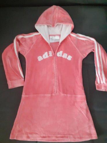 Adidas haljine - Srbija: ADIDAS plišani duks haljinica vel okvirno 122cm. Odlicno očuvan