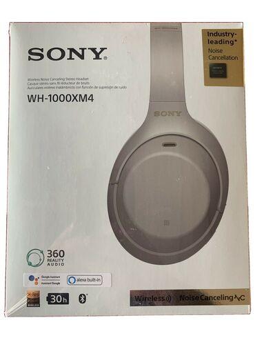 sony wh 1000xm4 бишкек in Кыргызстан | ТЕЛЕВИЗОРЛОР: Sony WH-1000XM4 silver, black new