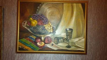гидравлическое масло в Азербайджан: Картина,натюрморт,холст, масло, размер75х55,украсит ваш интерьер