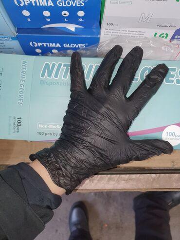 Черный нитрил ✔В упаковке- 100 штук (50 пар ) ✔М,Л - размер Оптом и в