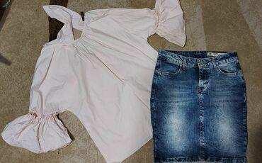 Teksas suknja S vel. Odlican teksas. Nikada nosena. Nema elastina