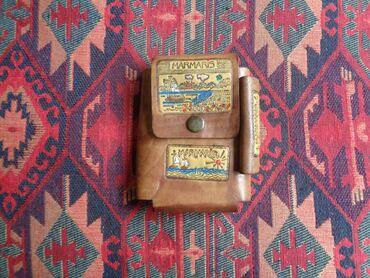 деревянный чехол в Азербайджан: Кожаный чехол на ремень для сигарет и зажигалки
