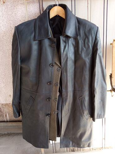 Кожаный мужской сюртук, размер L б/у в хорошем состоянии 800сом