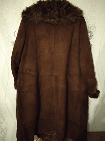 Bakı şəhərində Дублёнка женская, куплена в Греции,тёмно-коричневый, почти новая