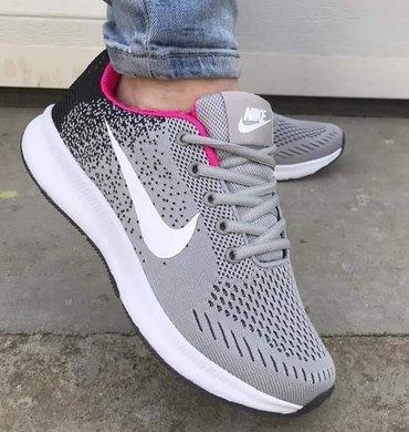 Ženska patike i atletske cipele   Prokuplje: Lagane sive platnene patike Nike, preudobne, kao da nemate nista na