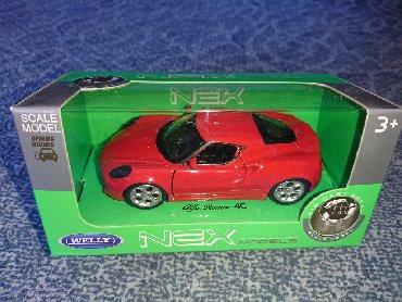 Alfa-romeo-spider-2-4-td - Srbija: Metalni auto - Alfa Romeo 4C  Naziv: Metalni Alfa Romeo 4C Razmera: 11