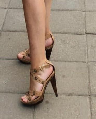 Ženska obuća | Knic: Zenske sandale od koze, kao nove. 40broj. Udobne, ne bole noge uopste