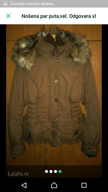 Ženska zimska jakna, nošena par puta, odgovara xl. - Indija