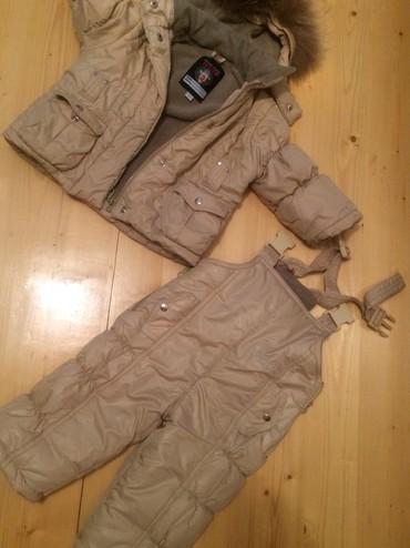 весенние комбинезоны для новорожденных в Азербайджан: Куртка + комбинезон. 12-18 месяцев