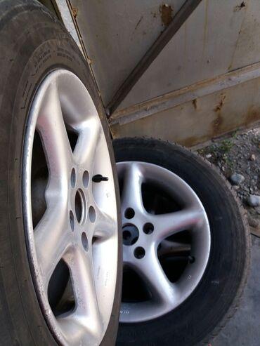 Транспорт - Кок-Джар: Продаю диски с шинами 15 195/65 разболтовка 5 на 112 стояли на Audi C4