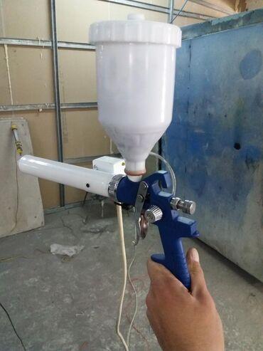 акриловые краски для ванны цена в Кыргызстан: Пистолет для полимерно-порошковой покраски. С регулировкой подачи