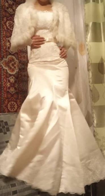 Свадебные платья и аксессуары - Массы: Срочно! Платье русалка. Шнуровка. В комплекте : платье, балеро лебяжий