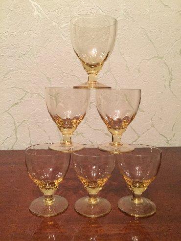 Свадебные бокалы ручная роспись - Кыргызстан: Бокалы советские 6 штук 300 сом
