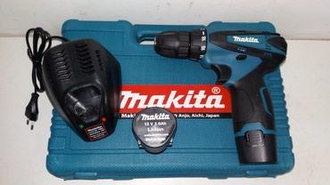 Odvijači | Srbija: Aku srafilica makita 12v/2. 0ah, 2 li-ion baterije i punjac u koferu