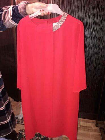 Платье турецкое одевалось 1 раз на той .Размер 52,цвет красный.Накид