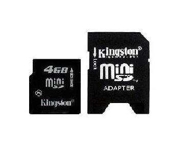 карты памяти sd для телефонов в Кыргызстан: Флешкарта с адаптером 4GB MiNI-SD производитель: Kingstonсостояние
