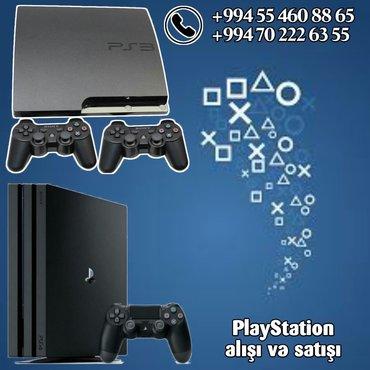 Playstation 3-4 en munasib qiymete unvandan aliram