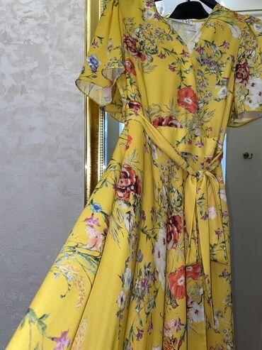 платья из панбархата на шифоне в Кыргызстан: Шифоновое платьеПроизводство Турция Размер SИдеальное