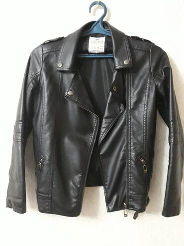 Куртка- Косуха. Эко кожа. Размер (13-15 лет). Производство-Турция.Б/у