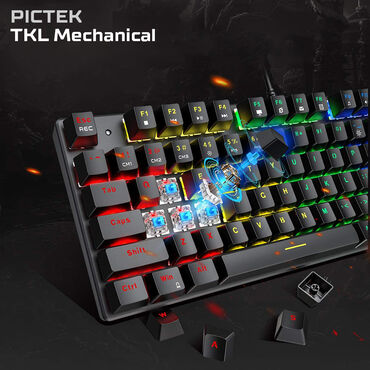 steelseries - Azərbaycan: Pictek TKL Mechanical RGBMexanik klaviatura - Mechanical KeyboardBlue