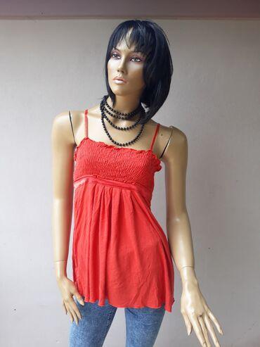 Ženska odeća | Prokuplje: Crvena tunika bez ikakvih ostecenja Veličina S/M pamuk sa elastinom