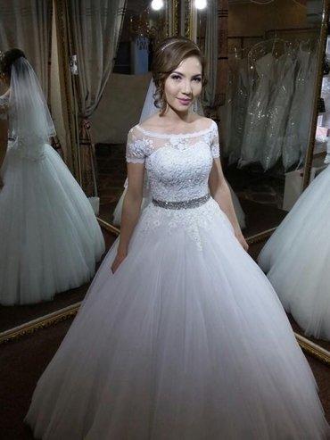 💥 Свадебное👰🏻 и вечернее платье💃🏻, свадебные туфельки👡, фата, бо в Бишкек - фото 2