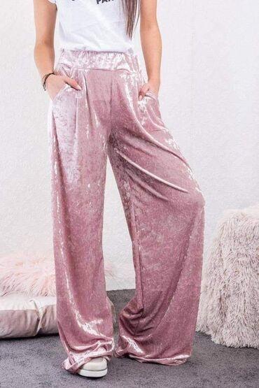 Ženske pantalone - Srbija: Pantalone 1700din ili dvoje za 2600dinMaterijal sjajni plisVelicina