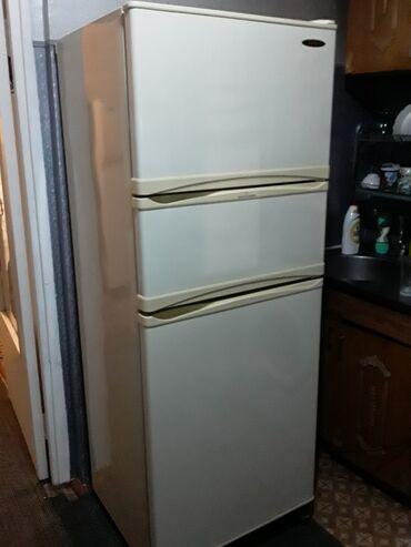 Электроника - Кыргызстан:   Б/у Трехкамерный   Белый холодильник