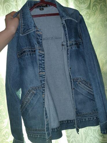 Другая женская одежда - Кыргызстан: Б/У вещи пальто и душевую жилетку (мужской)одевали пару раз джинсовая