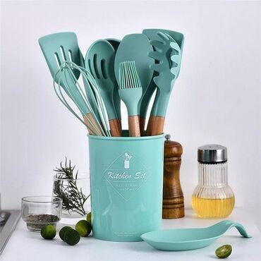 фризер для мороженого бишкек в Кыргызстан: Набор кухонных предметов 12 предметов СиликонНабор кухонных предметов