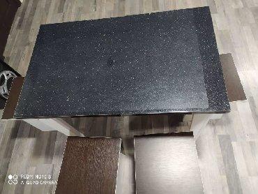стол на кухню раскладной в Кыргызстан: Новый стол 100*60см +4 стулчик