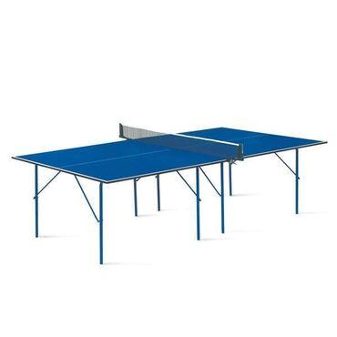 Ракетки - Кыргызстан: Теннисный стол Start line hobbyХарактеристики:Цвет: СинийИгровое поле