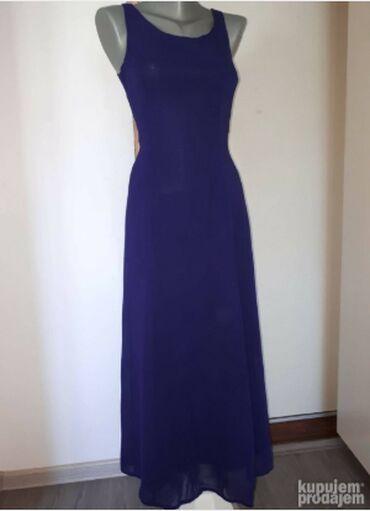 Duga leprsava haljina - Kraljevo: H&M ljubicasta haljina SLetnja, postavljena, duga haljina u