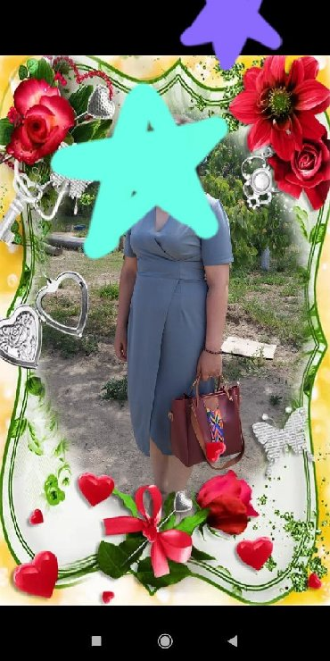 летнее платье с запахом в Кыргызстан: Платье запах, один раз одела .Можно обмен