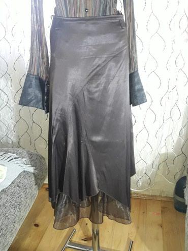 Satenska-tunikaizgledamnema-elastin - Srbija: Satenska braon suknja vel 38