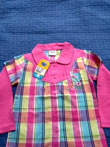 Рубашка на девочку до 3 лет,новая . Забрать в 4 микрорайоне. в Бишкек