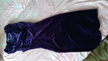 """вечернее платье в горошек в Кыргызстан: Срочно продаю вечернее платье """"велюр"""" .  За счет цены можно договорить"""