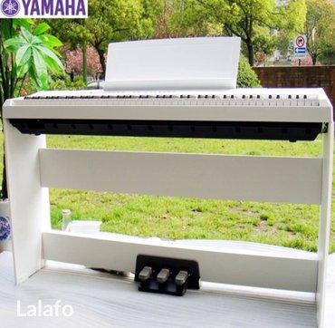 Пианино, фортепиано в Лебединовка: Цифровое пианино в самой полной комплеекктации белого цвета yamaha