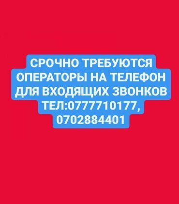 работа на заводе в бишкеке в Кыргызстан: ️️️СРОЧНО️️️ ️️️требуются операторы на телефон для входящие звонков