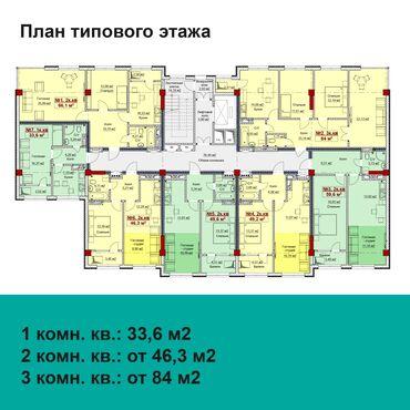 продажа-1-комнатная в Кыргызстан: Продается квартира: 1 комната, 34 кв. м
