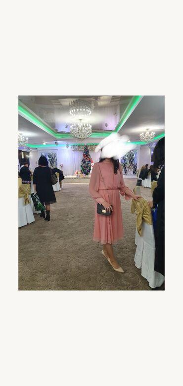 платье миди в Кыргызстан: Продаю платье  размер: М  размер: 44 длина миди, ниже колен рукава дли
