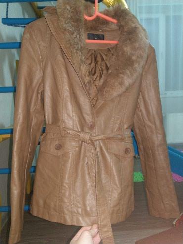 Куртка, размер L, материал кож зам, мех в Бишкек