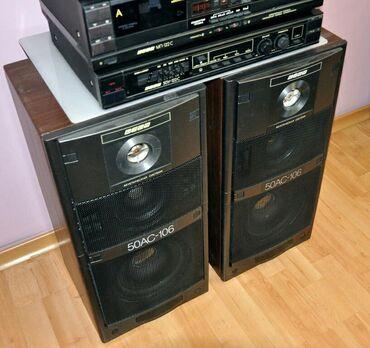 Продаю муз центр Вега (комлект колонки усилитель и двухкассетная