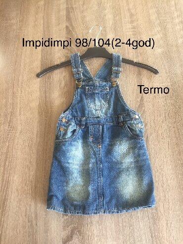 Duks-haljina - Indija: Termo teksas haljina 98/104 (2-4god) za devojcice